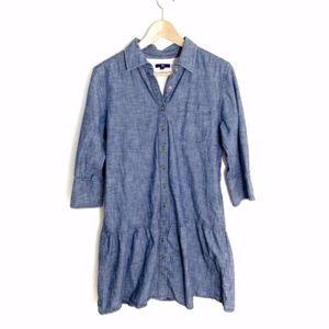 GAP chambray mini dress Medium